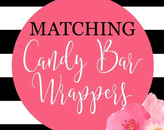 Birthday Candy Bar Wrappers, Baby Shower Candy Bar Wrappers, Printable Candy Bar Wrapper,DIY Printable, Made to Match Any Invitation in Shop