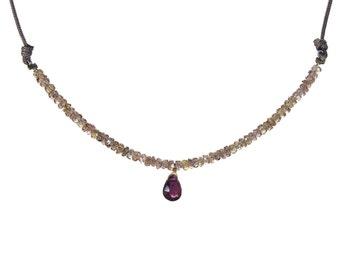 Change Garnet necklace