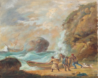 Seascape with Figures
