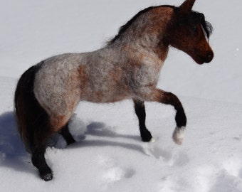 Any Horse of Your Choice Needle Felted Wool Animal By Carol Rossi Created Just for You!