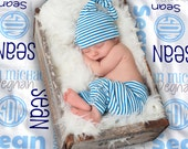 Baby Blanket - Personalized Receiving Blanket for Girls or Boys - Custom Baby Name Blanket - Newborn Swaddling Blanket - Baby Shower Gift