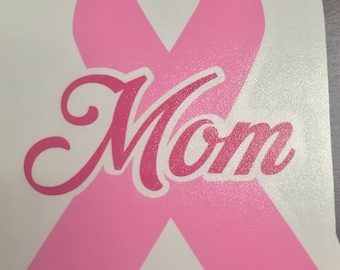 Custom Breast Cancer Awareness Ribbon Decal - Personalized