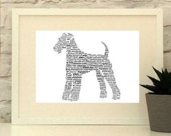 Airedale Terrier Dog Personalised Custom Print