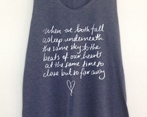 5 seconds of summer tank  song lyric So close but So far away tank tunic S M L