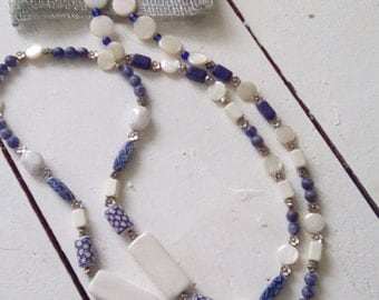Stunning necklace using Greek and ceramic beads