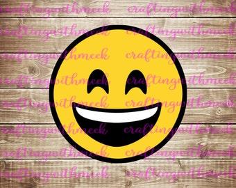 Smiling Emoji - Cricut Explore - Design Space Emoji SVG