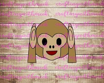 Hear No Evil Monkey Emoji SVG