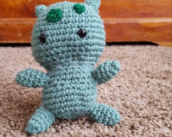 Bulbasaur  handmade crocheted plush