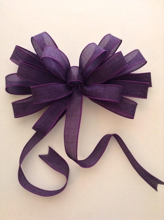 purple wreath bow purple decorative bow purple by craftsbybeba. Black Bedroom Furniture Sets. Home Design Ideas