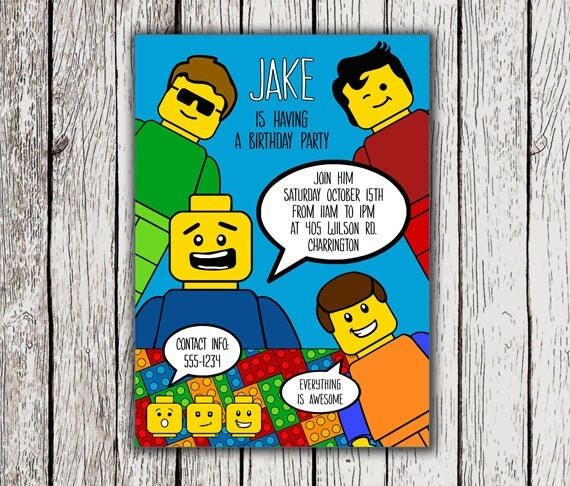 Lego Birthday Invitation Cards Friend Nicole S Lego Birthday – Lego Birthday Party Invitations