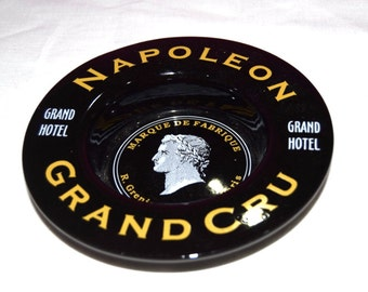 French Grand Hotel Wine Bottle Charger - Black with Gold