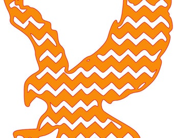 Chevron Eagle SVG File Auburn War Eagle