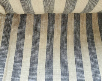 """Georgeous tradional french stripes fabric in oat and blue 63"""" wide"""