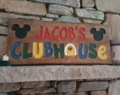 Children Toddler Clubhouse custom engraved wood sign for bedroom playhouse home decor personalized with your child's name