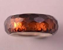 Nirvana Swarovski Crystal Ring With Engraved Swan