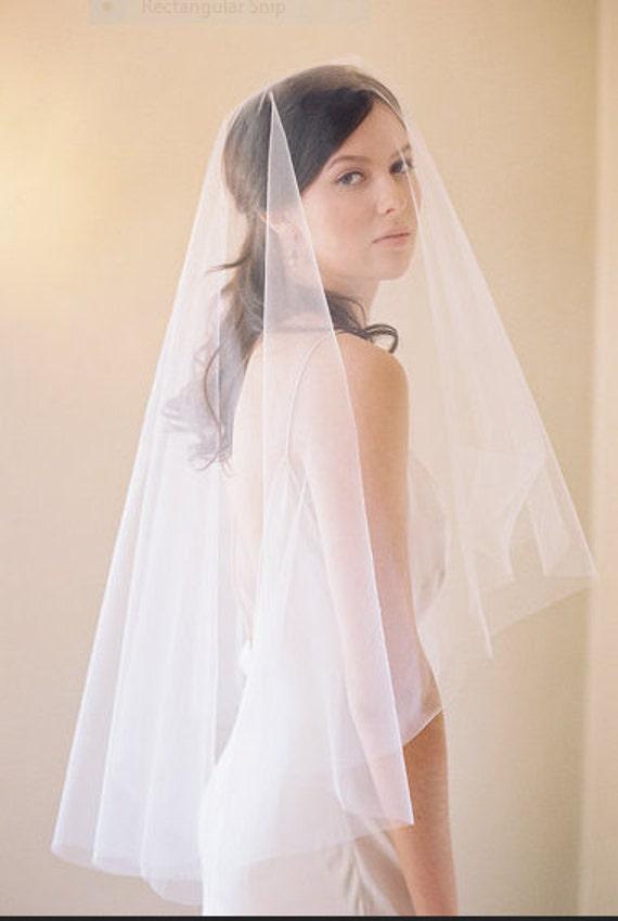 Drop Veil, Veil, Blusher Veil. Wedding Veil, Plain Veil, Simple Veil, Bridal Veil, Cathedral Veil, Soft Tulle Veil - NO GATHERS