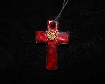 Wire Wrapped Red Cross