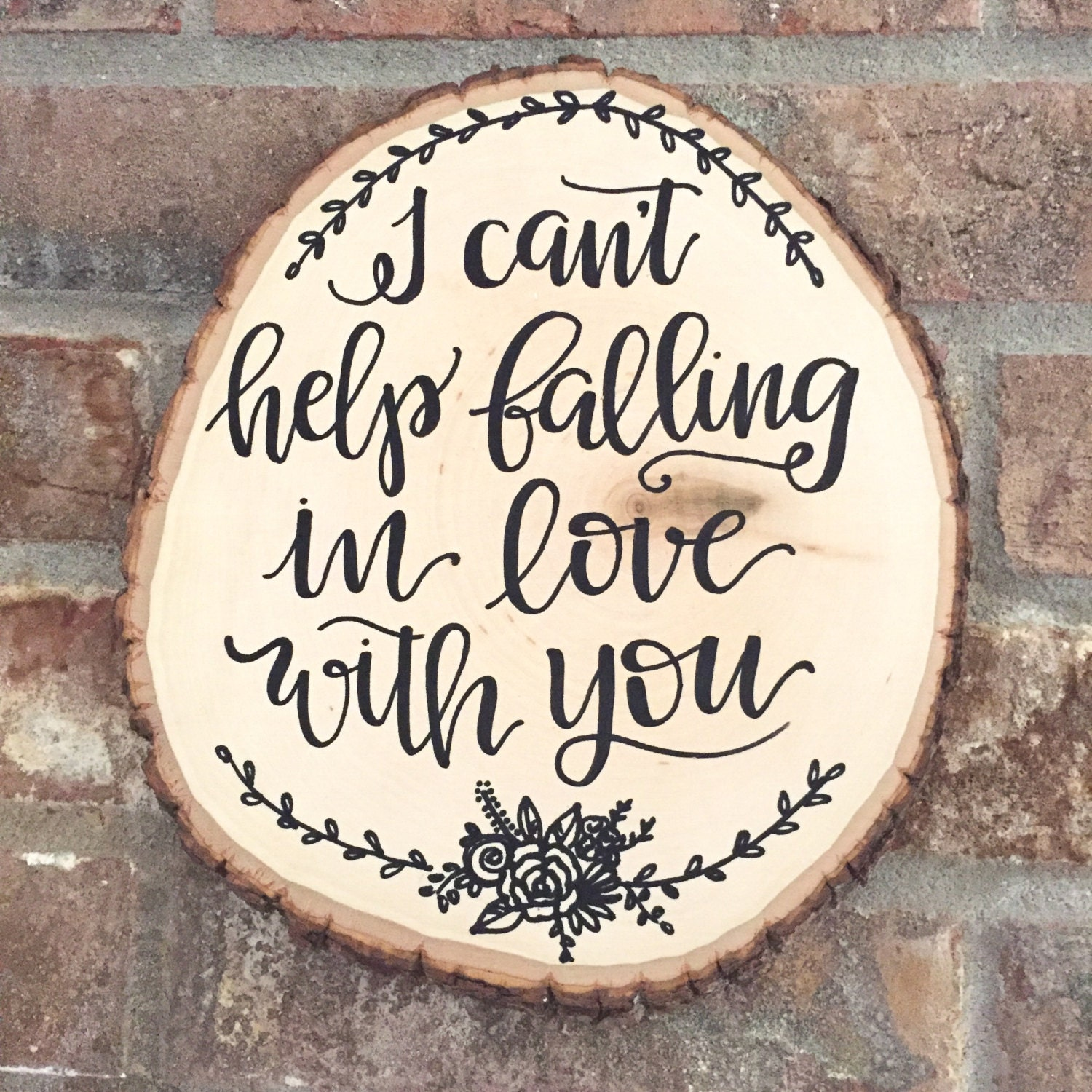 Wood Slice Sign Wedding First Dance Song Love Quote Sign