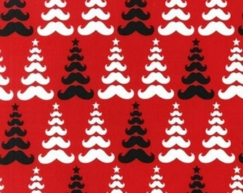 Merry Mustaches Trees - Caleb Gray for Robert Kaufman Fabrics  CHOOSE Your Color