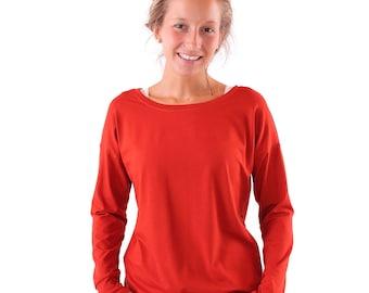 casual shirt 'Helen' / / rust from viscose Jersey