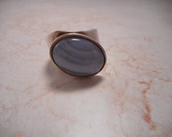 Sterling Silver DTR Jay King Light Blue Agate Ring Size 9
