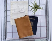 Personalized Leather Passport Cover | The Earhart