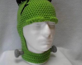 Crocheted Frankenstein Hat