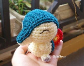 FREE SHIPPING Chibi Cyndaquil Made-to-order Crochet Amigurumi, Pokemon plush toy