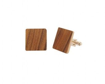 Wooden Cufflinks Palissandre