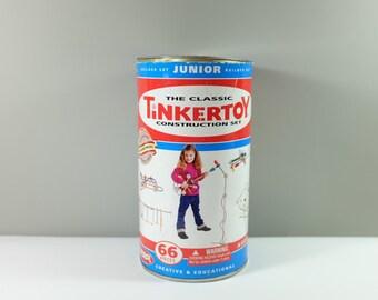 Vintage building toy: The Classic TinkerToy construction set- Builder set Junior - Vintage toy - Retro toy - Vintage Tinker Toy