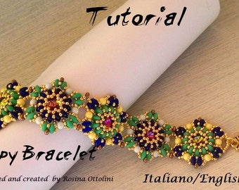 Snappy Bracelet (Tutorial graphics images and with some photos step by step in Italiano or English)