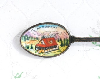 Revelstoke Antique Dips Spoon With windmill Handle - Souvenir from Canada