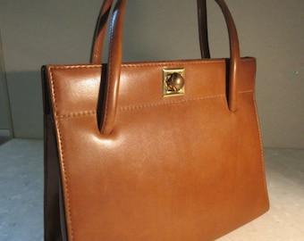 Vintage 1950's Tan PVC 'Freedex' Handbag - Cute!!