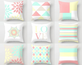 """Decorative Pillow Cover Geometric Pillow Cover Throw Pillow Covers Accent Pillow Covers Home Decor Pastel Toss Pillow Covers 16"""" 18"""" 20"""" 24"""""""