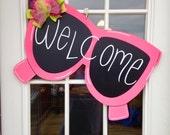 sunglasses door hanger, door hanger,summer door hanger,spring door hanger