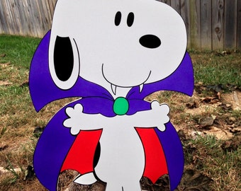 snoopy as a vampire  halloween yard art decorations..
