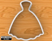 Wedding Dress Cookie Cutter, Selectable sizes.