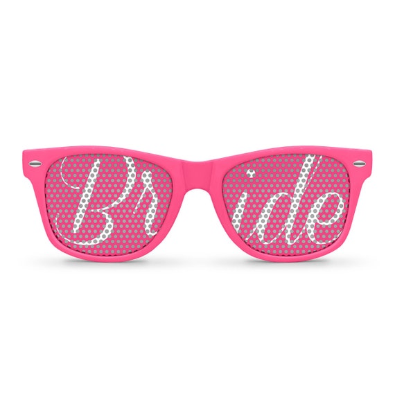 BRIDE Pink Retro Party Wedding Sunglasses