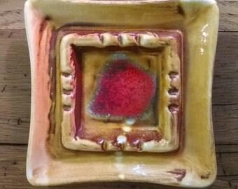 Vintage California Pottery Decorative Ash Tray