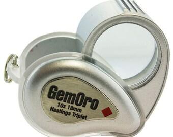 GemOro Lite Loupe 10X 18mm Triplet Lens - Silver  (EL2719SL)