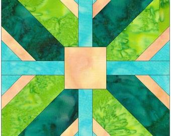 Burnham Cross Paper Piece Foundation Quilting Block Pattern PDF