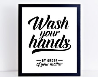 Bathroom Signs Wash Hands sparkle & shine wash your hands every time bathroom sign