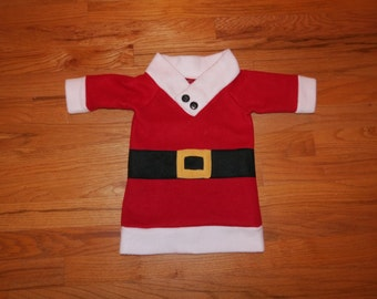Fleece Santa shirt/costume for kids 6 mo-size 8