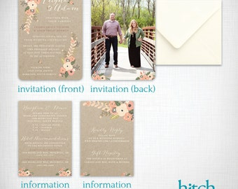 Wedding invitation: Leigha + Adam