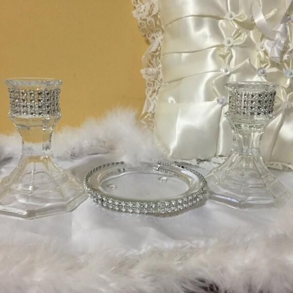 Unity candle holder wedding centerpiece