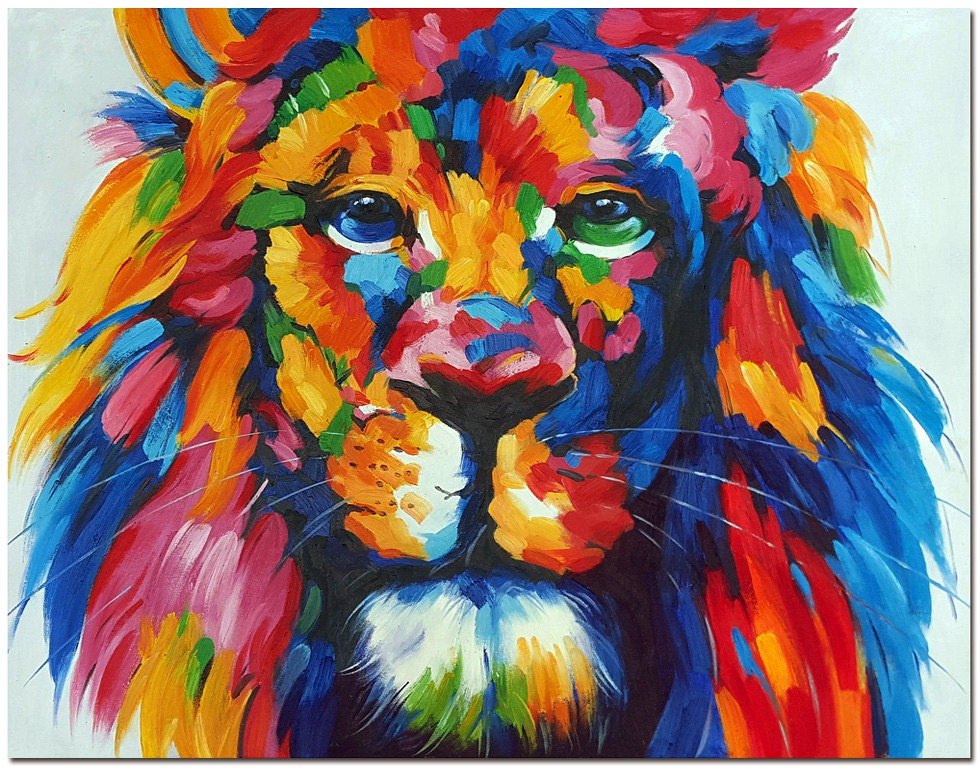How To Paint A Lion Face On Canvas