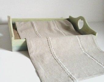 linen table runner,beige table linen, shabby chic decor,rustic placemats,famhouse placemats, tabletop runner table runnerwhite table runner