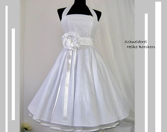 Bridaldress,Weddingdress,Rockabillydress,Retroweddingdress,Dress,white Dress,