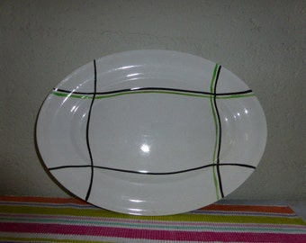 oval dishes, BAYONNE, from Ceranord, St amand, made in france, vintage 1950/1960, ceramics