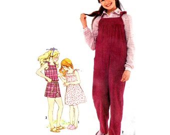 Simplicity Sewing Pattern 9987 Girl's Jumpsuit in two lengths, Sundress  Size:  12  Used